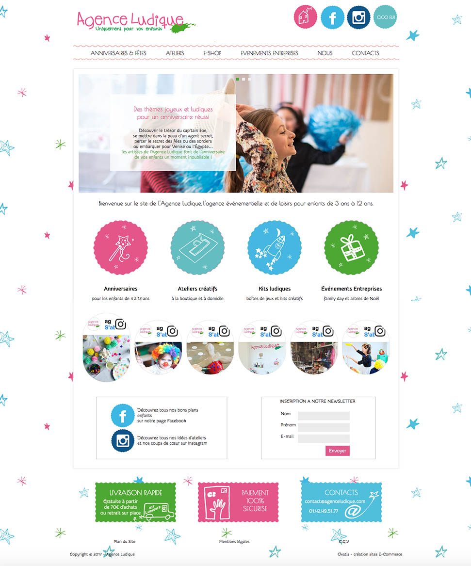 site web agence ludique