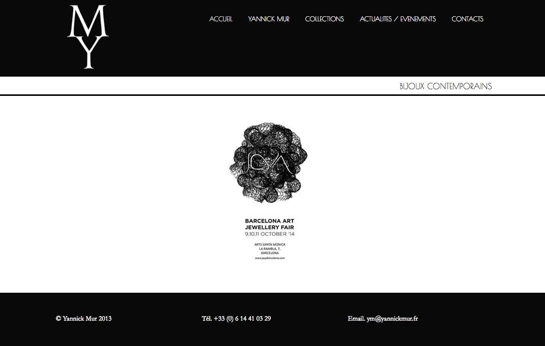 site internet yannick mur