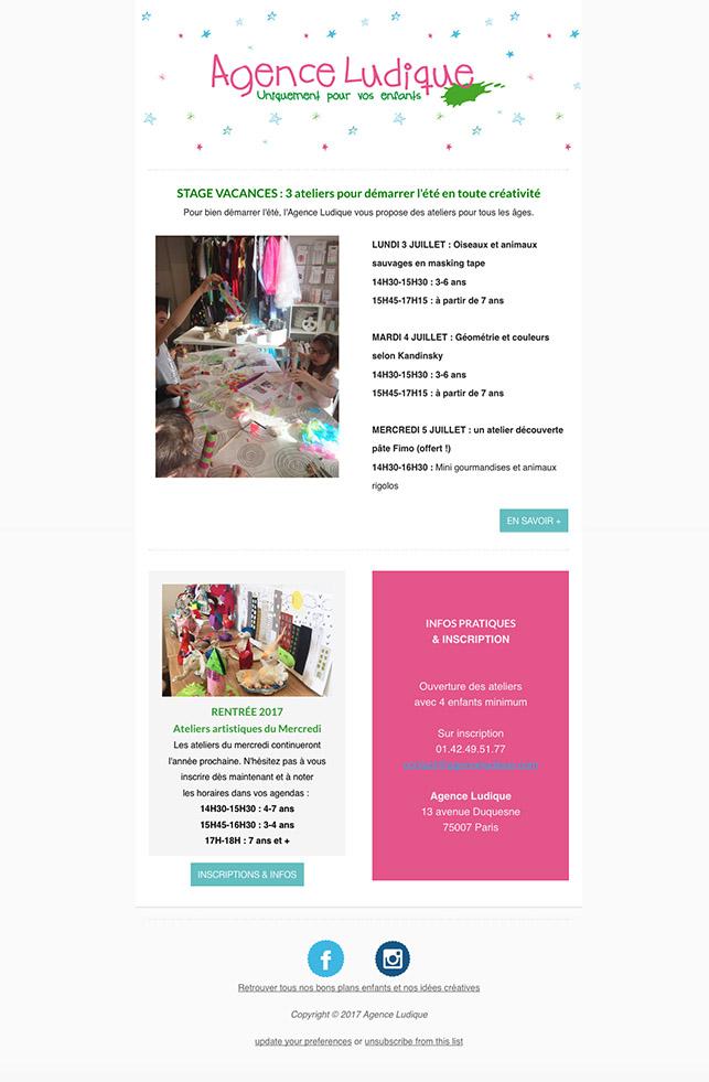 newsletter agence ludique