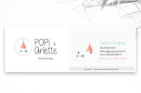 carte de visite popi et arlette