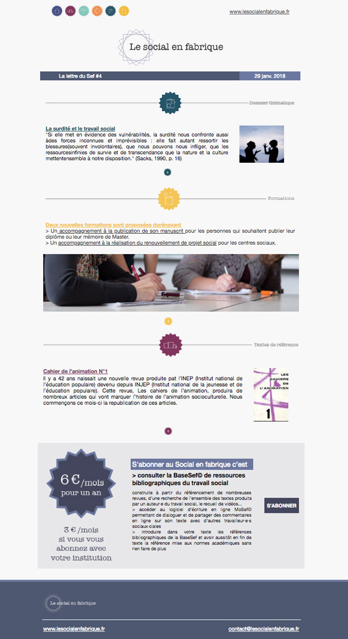 newsletter social fabrique