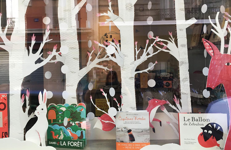 vitrine enfant décoration hiver