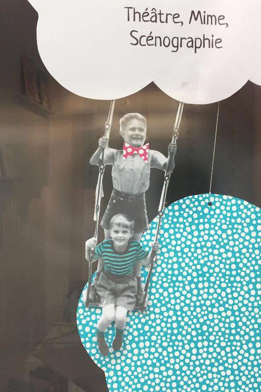 décoration vitrine enfants